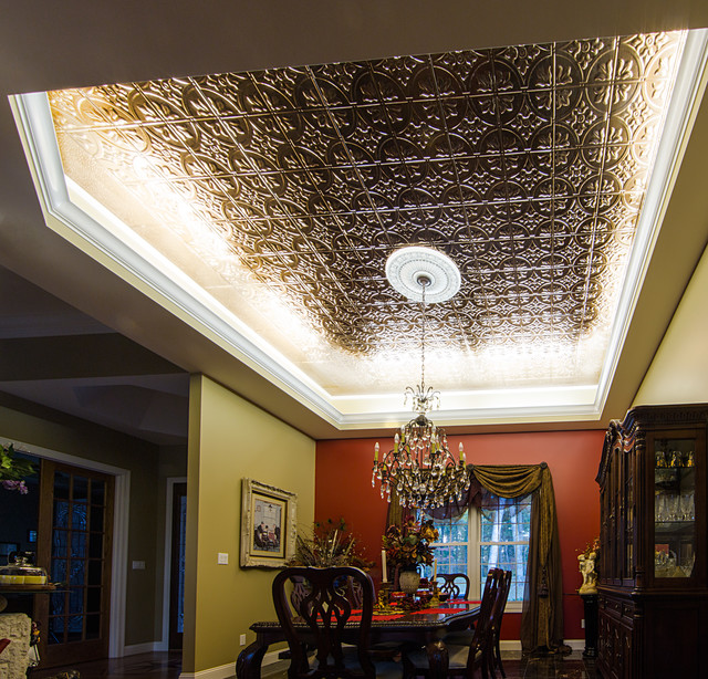 Coffered Ceiling Cove Lighting The Ceiling Is Almost