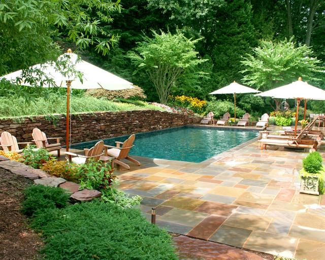 Rectangular traditional pool