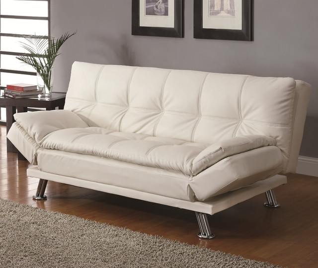 contemporary white sleeper sofa bed modern futons new york by