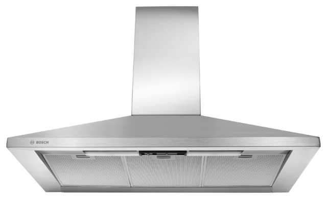 """Bosch 300 Series 36"""" Wall Mount Chimney Hood, Stainless Steel 