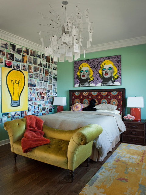 Los Gatos Residence eclectic bedroom
