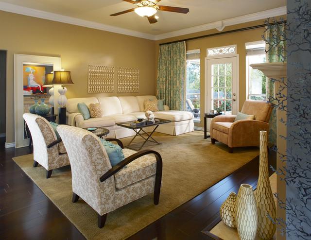 Local Room Makeovers Mediterranean Living Room