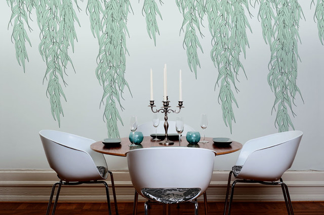 Willow Wallpaper Modern Dining Room Detroit By The