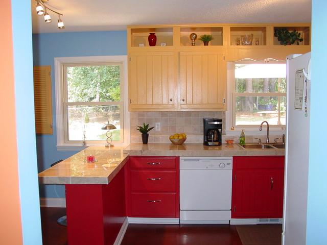 Remodel Of 1970 Split Level Traditional Kitchen