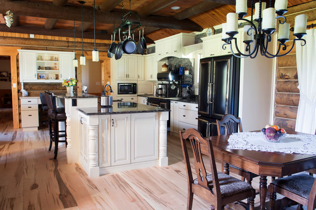 Log Cabin Renovation Traditional Kitchen Other Metro