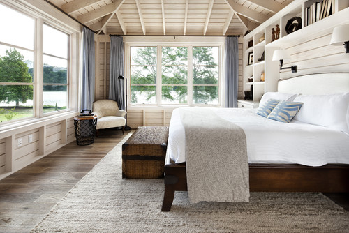 Chambre style cottage, The Woodlands Architects & Designers JAUREGUI Architecture Interiors Construction