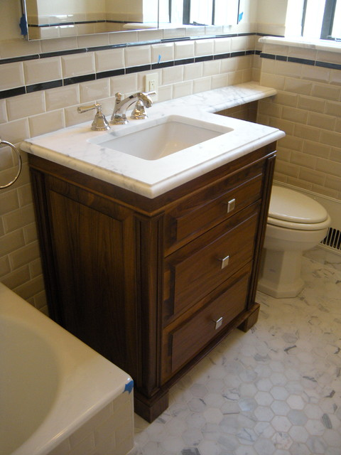 3-Drawer Walnut Vanity - Traditional - Bathroom Vanities ... on {keyword}