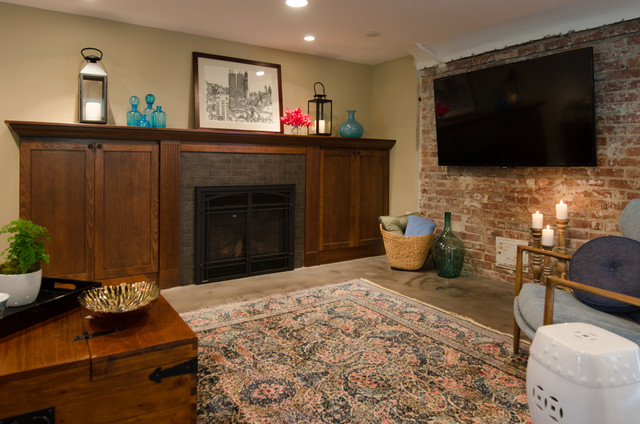 traditional basement by Potter Construction Inc