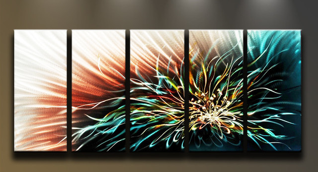Metal Wall Art Abstract Modern Contemporary Flower Lotus