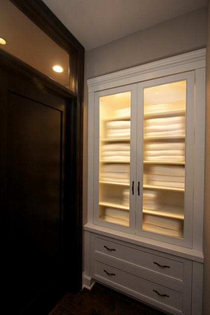 Robeson Design Built In Hallway Closet Towel Storage And