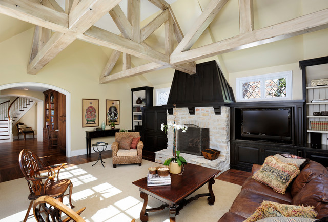 Atherton, California Estate by Markay Johnson Construction traditional-living-room