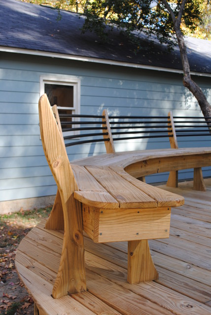 Curved Deck Contemporary Patio Nashville By Gill