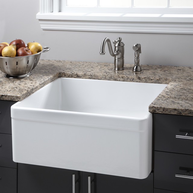 26 Baldwin Fireclay Farmhouse Sink Decorative Lip