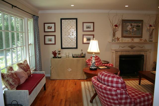 Red, White, Blue, Camel = Revived Living Room