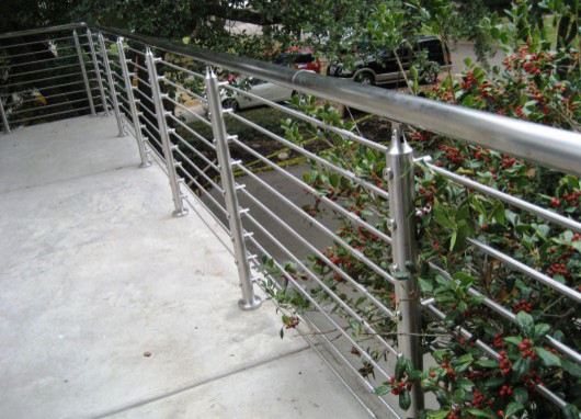 Exterior railing. spiral metal for deck or front porch ...
