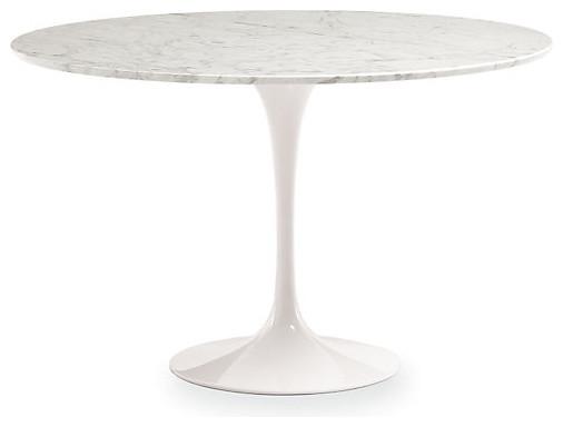 saarinen  inch round dining table white marble modern dining tables: round white marble dining table