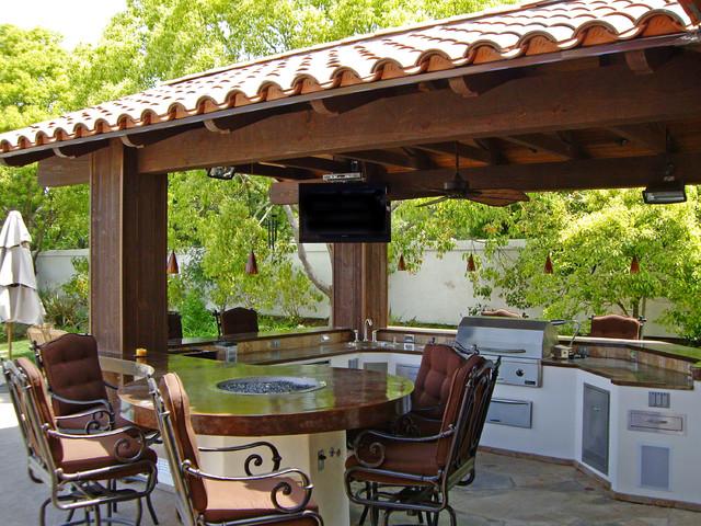 pergola designs outdoor kitchen