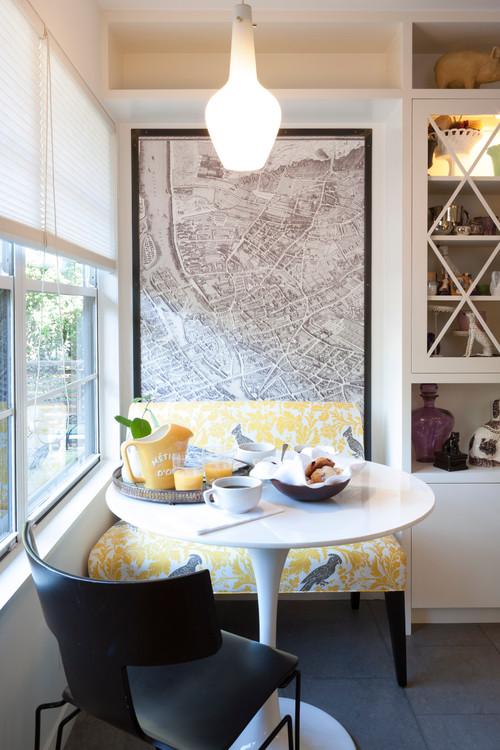 Kitchen Great Room Designs: Design Breakdown: Graphic Breakfast Nook (Small Space