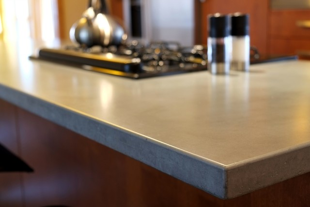 Concrete Counter Tops Contemporary Kitchen Countertops Louis