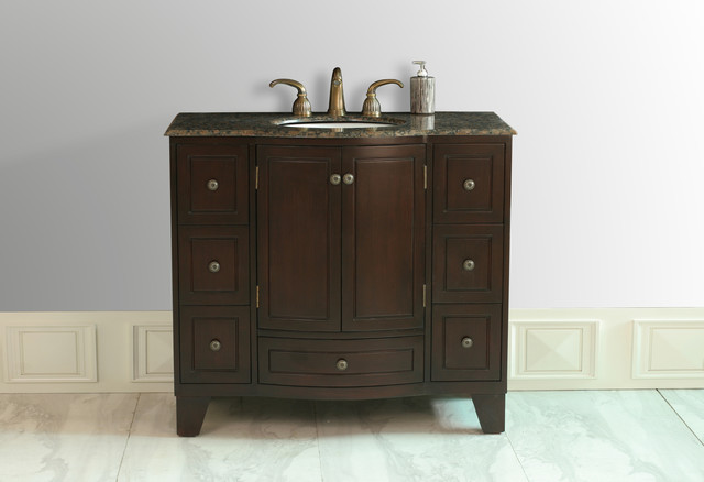 "40"" Grand Cheswick Single Sink Vanity With Baltic Brown"