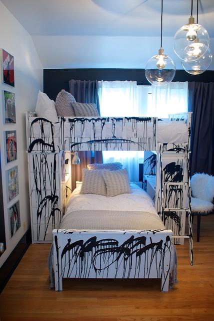 Punk Rock Bedroom Contemporary Kids Los Angeles By Star Michael Interior Design