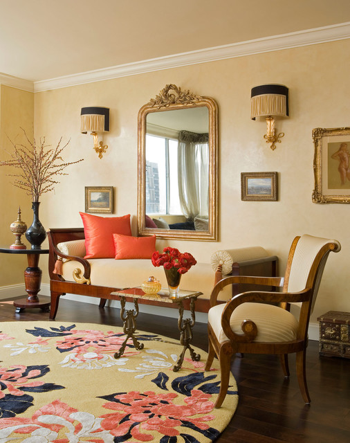 Central Park West, New York City traditional-living-room