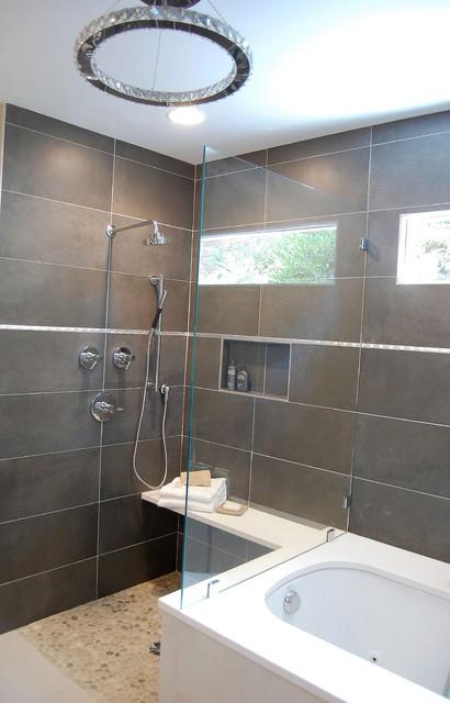 Small European Bath Contemporary Bathroom Charlotte