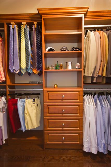 Handsome Mens Walk In Closet Traditional Closet