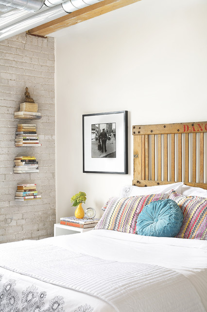 Leslieville Lofts eclectic bedroom