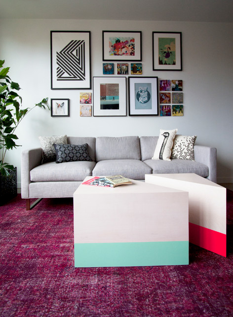 Condo Furniture + Styling contemporary-living-room