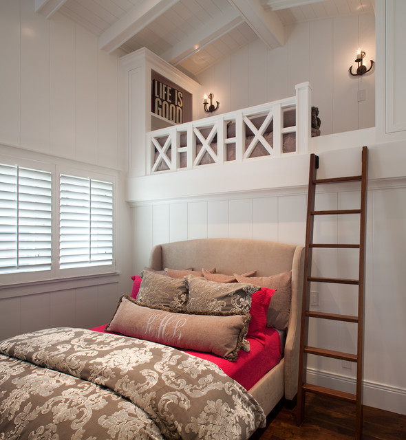 CA Beach Home traditional bedroom