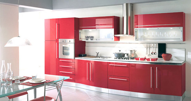Lacquer Kitchen Cabinets Fiamberti Modern