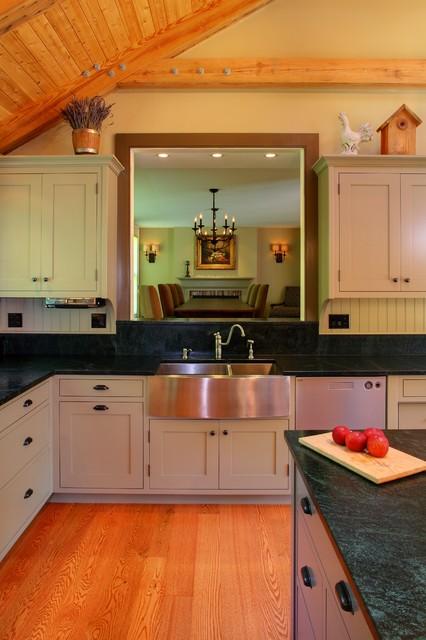 Colonial Farmhouse Farmhouse Kitchen Portland Maine By Fine Lines Construction