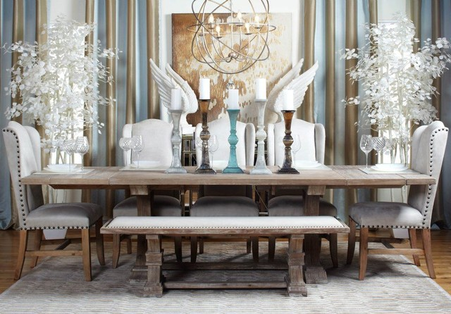 coastal chic dining room style influenced by the tones of the sand and