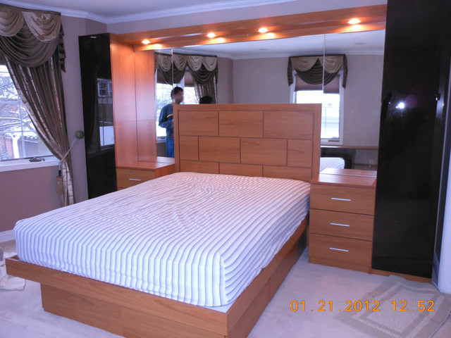 Pier Wall Bed With Mirrored Headboard Wall Contemporary