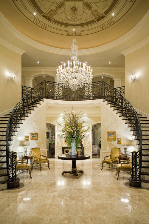 Crystal Chandeliers For The Foyer In Traditional Sense Is A Classic Style