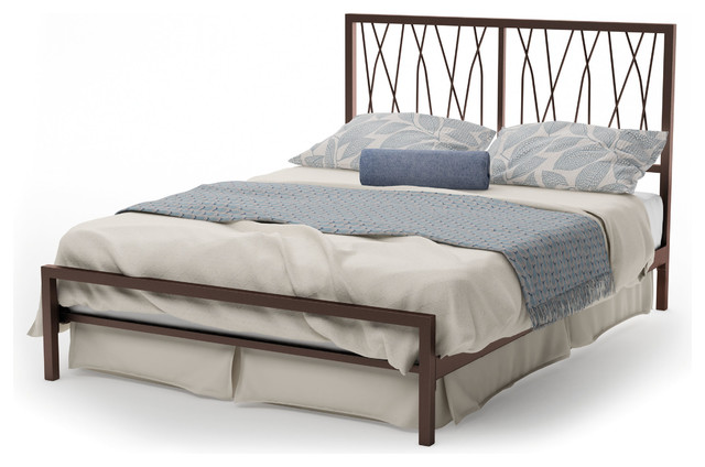 Amisco Ivy Full Size Metal Headboard & Footboard 54