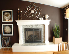 And More Brick Fireplaces Mount Tv Bricks Tvs Wire A