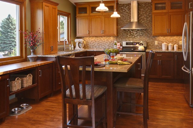 Blending Old And New Cabinet Colors Kitchen