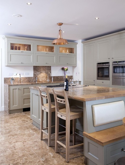 Island to bench to kitchen table torie tristan for Traditional kitchens ireland
