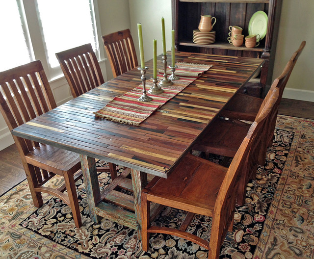 Dining Table: Salvaged Dining Table