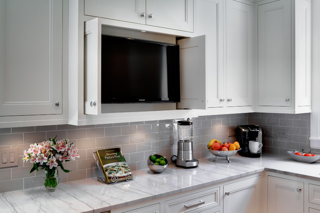 Oak Park Kitchen by TZS Design traditional-kitchen