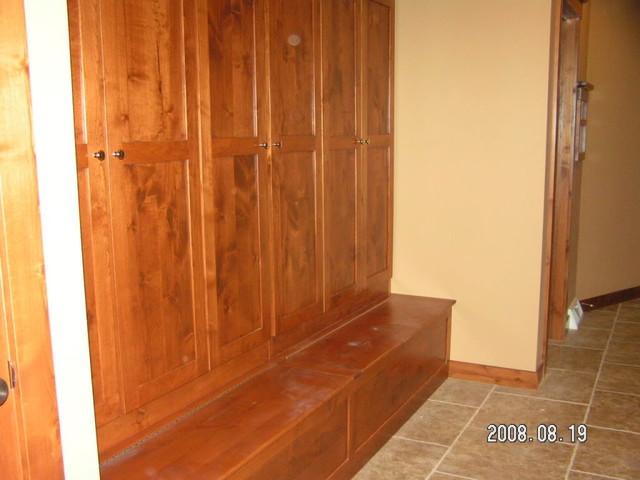 Wood Lockers With Doors