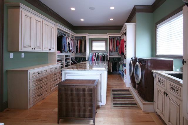 Walker Woodworking Custom Cabinets Traditional Laundry