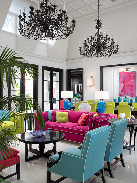 Florida Beachfront Residence - Vero Beach, USA tropical living room