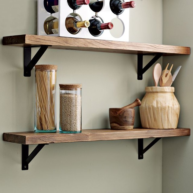 Salvaged Wood Shelf traditional-wall-shelves