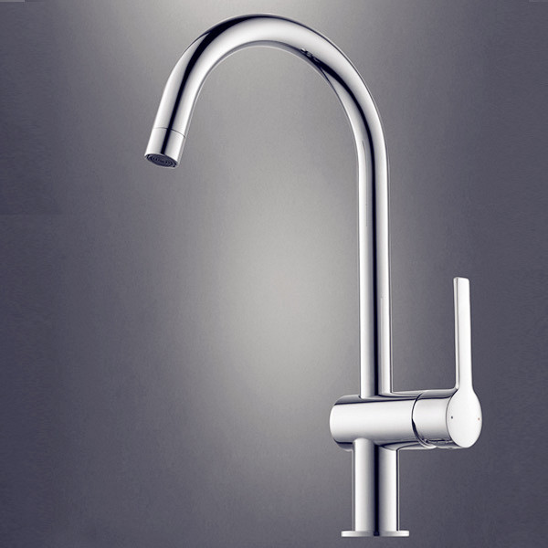 Design Silver Kitchen Faucet Chrome Modern Faucets