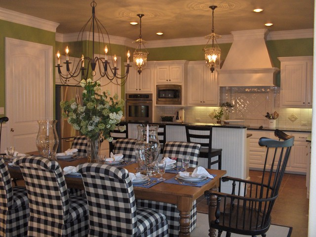 Updated Transitional Country Kitchen Traditional Dining Room Dallas By Mizell Amp Moore