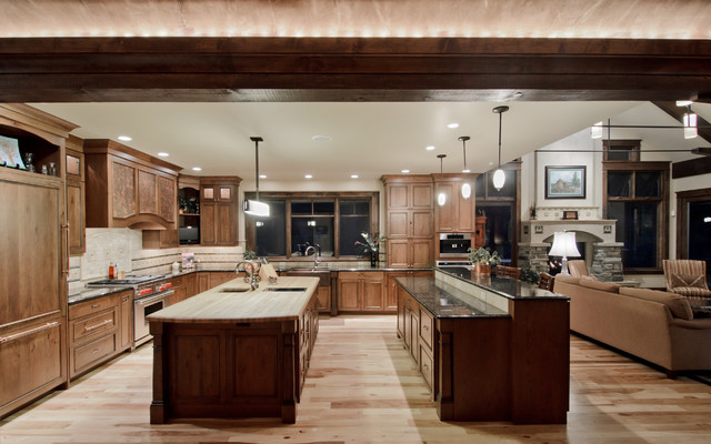 Kitchen Double Island Traditional