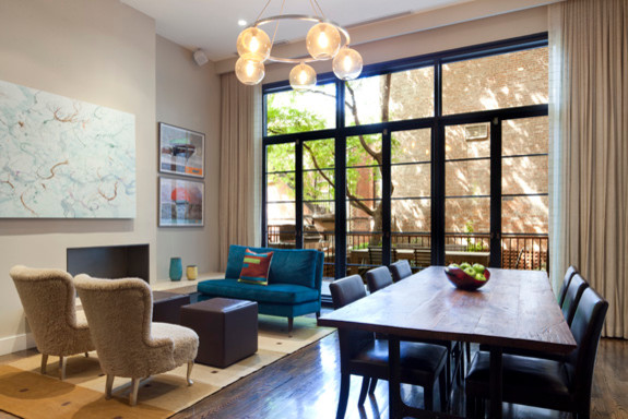 Brooklyn Heights Townhouse Modern Living Room New